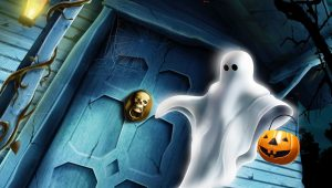 Download Wallpaper Halloween Pumpkin Ghost 2