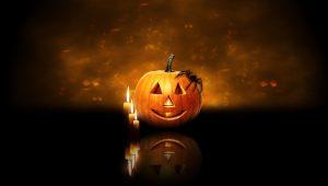 Download Wallpaper Halloween Pumpkin Spider Candles 2