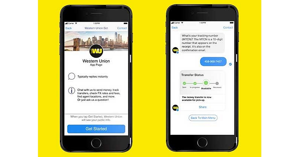 Western Union Launches a Bot for Facebook 1