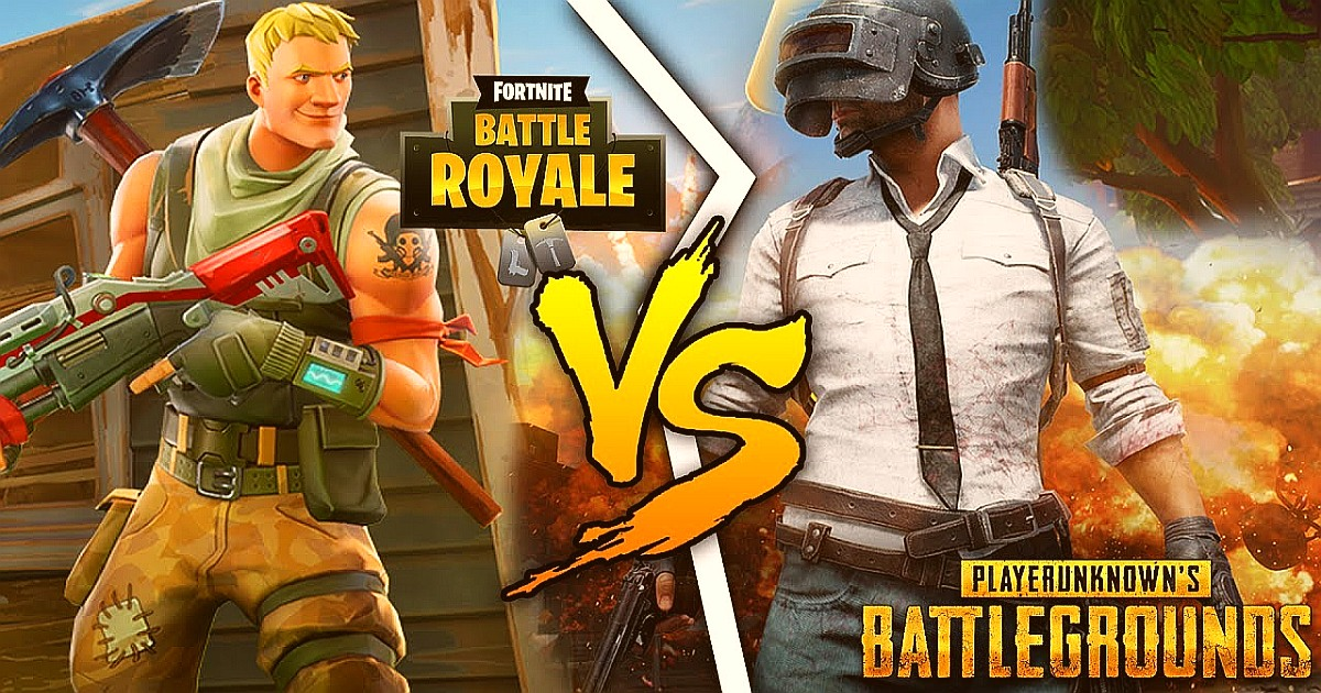 Differences between Fortnite Battle Royale and PUBG 1