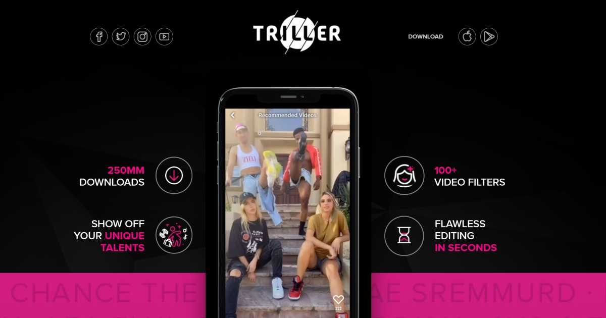Download Triller for Android, iPhone App: The TikTok Alternative 1